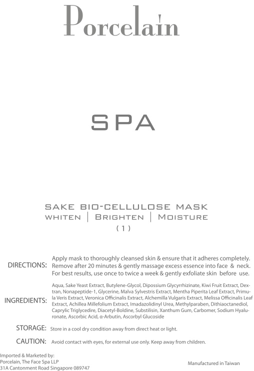 Porcelain SPA - Sake Bio Cellulose Mask