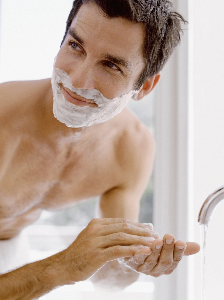 man washing face -2