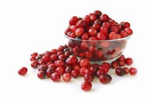 Cranberries in a bowl