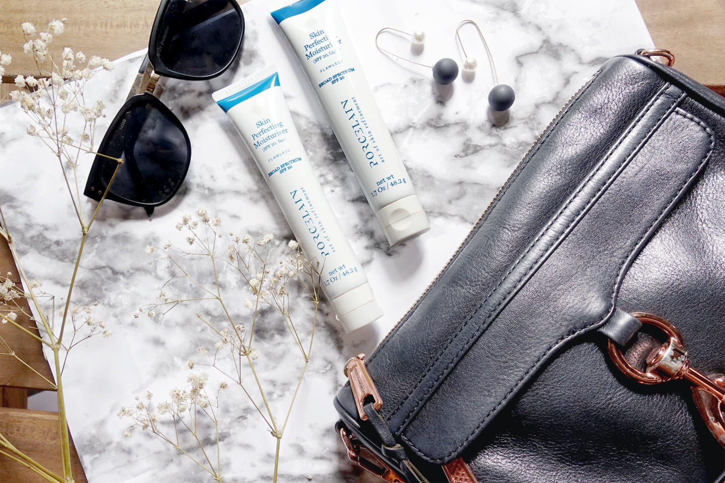Skincare for a Long Flight: Sun protection with our Skin Perfecting Moisturiser