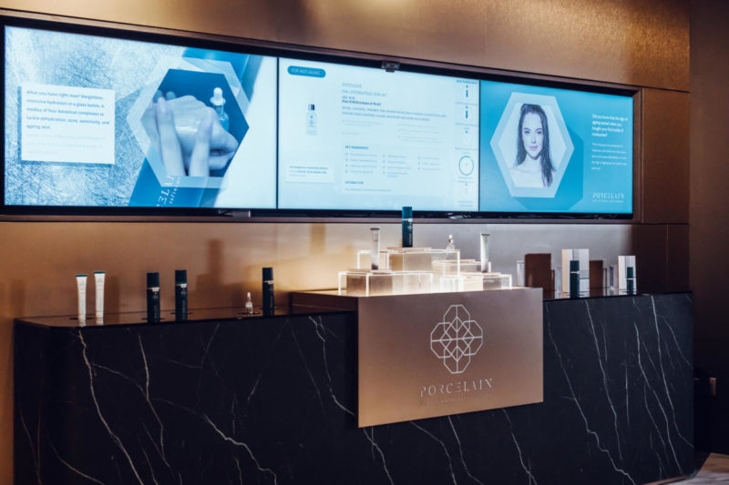 Singapore's first smart spa: Porcelain Origins's product discovery bar