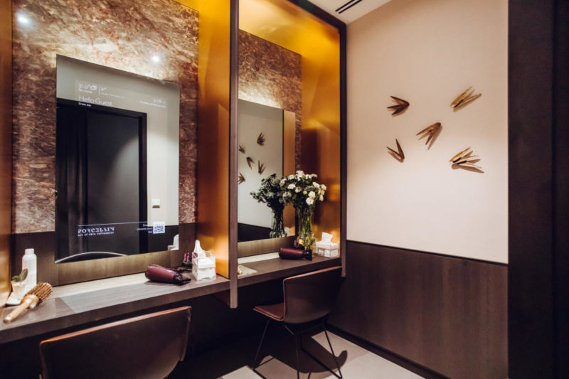 Singapore's first smart spa: Porcelain Origins's smart mirrors